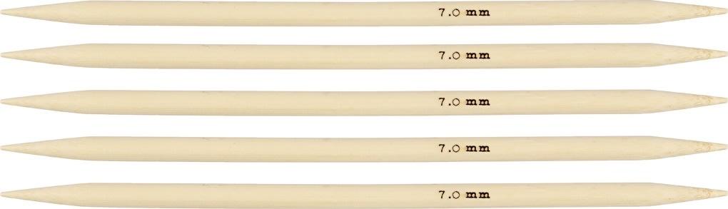 Strømpepinde, nr. 7, L: 20 cm, bambus, 5 stk