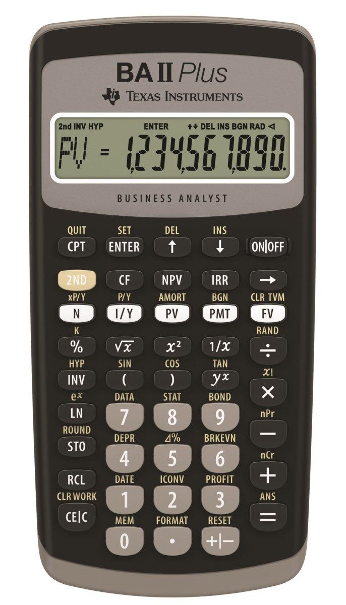 Texas Instruments BA-II Plus finansregner