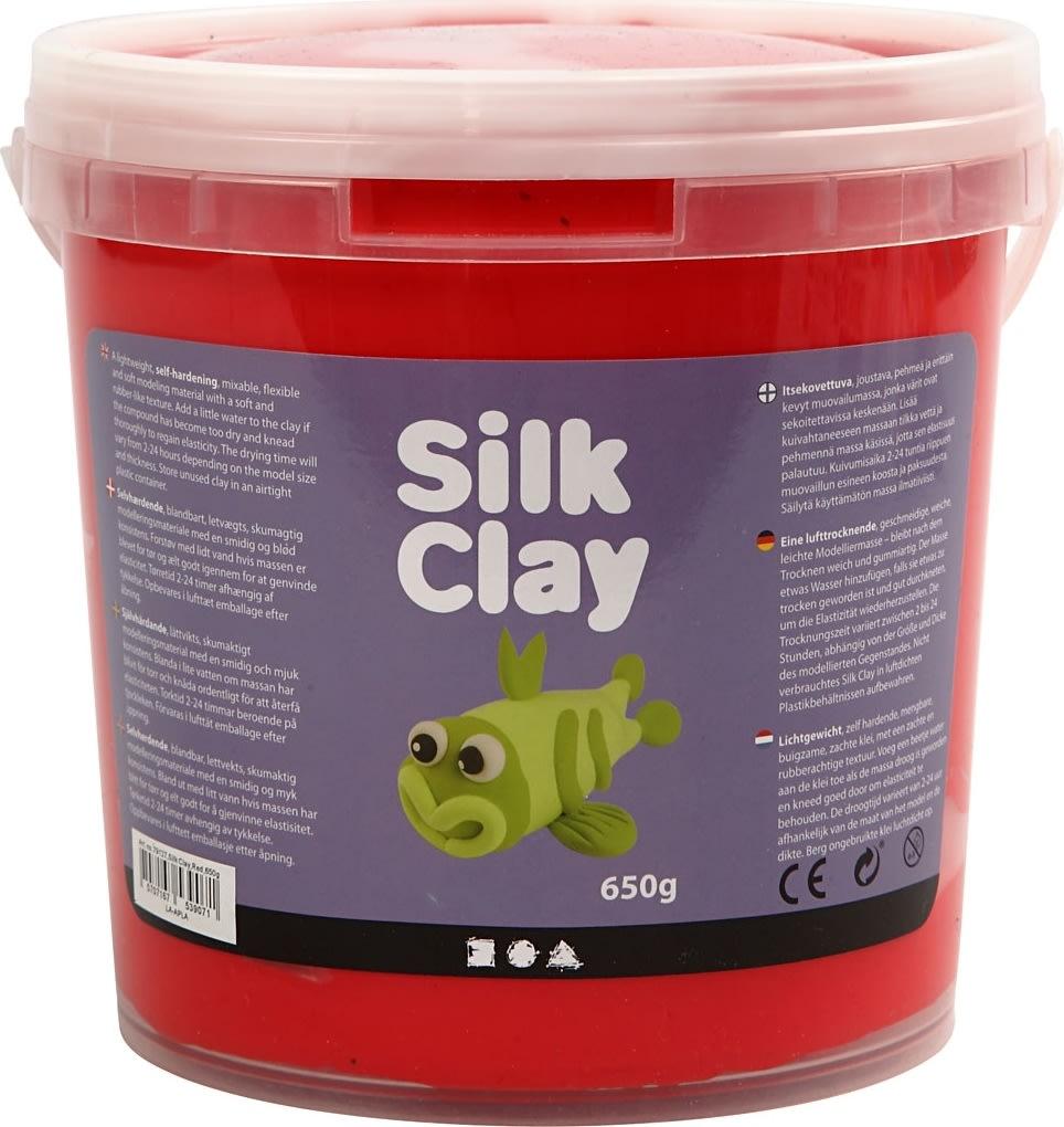 Silk Clay Modellervoks, 650 g, rød