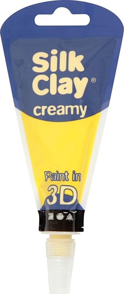 Silk Clay Creamy Modellervoks, 35 ml, gul
