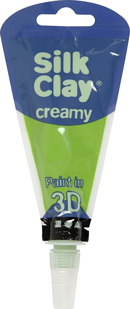 Silk Clay Creamy Modellervoks, 35 ml, lysegrøn