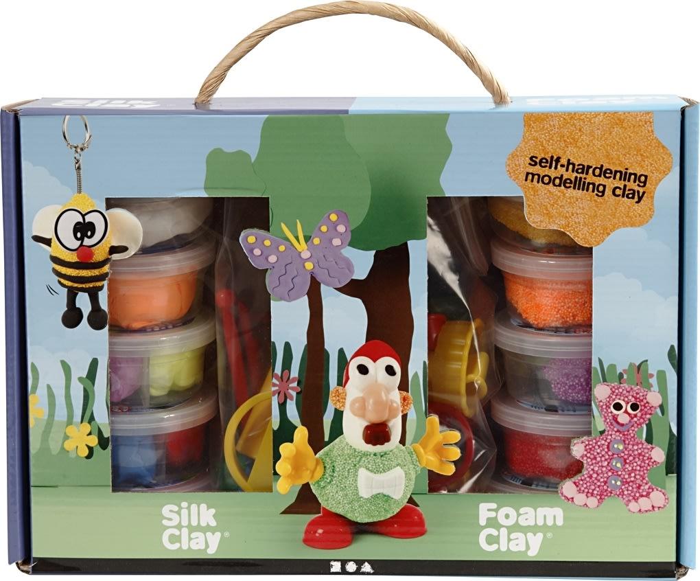 Silk Clay + Foam Clay Modellervoks Gaveæske