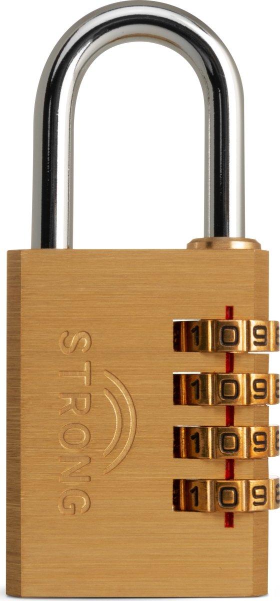 STRONG hængelås 40 mm - kodelås 4 cifre