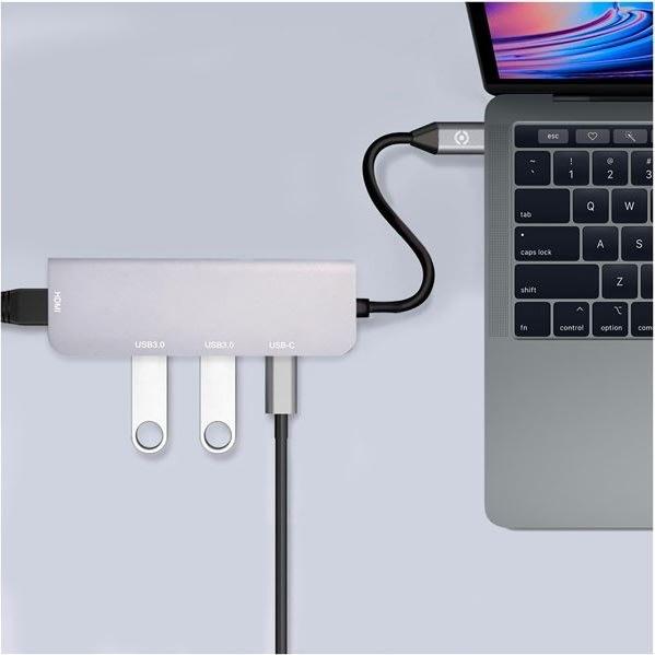 Celly Prohub 2 x USB, HDMI, USB-C adapter, grå