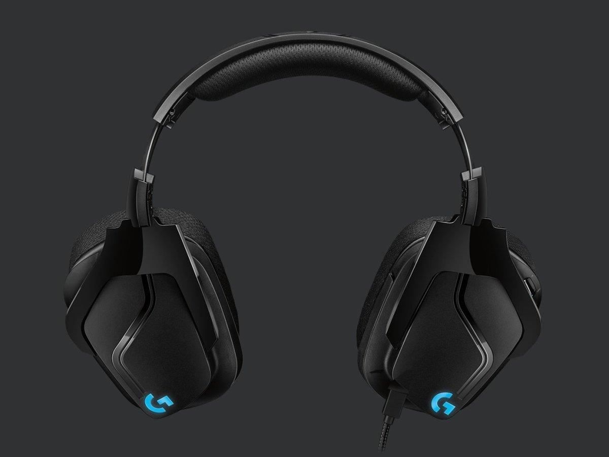 Logitech G635 7.1 LIGHTSYNC gaming headset, sort