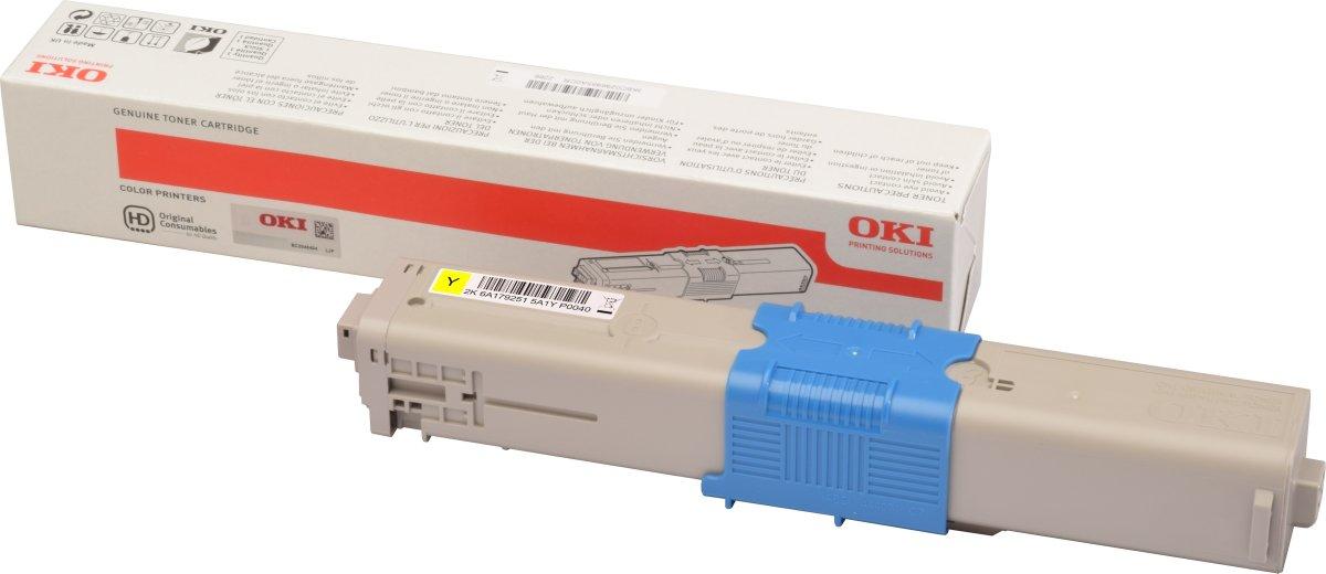 OKI 46508713 Lasertoner, gul, 1500s.
