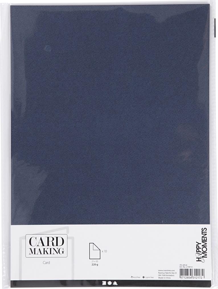 Happy Moments Karton, A4, 220g, 10 ark, blå