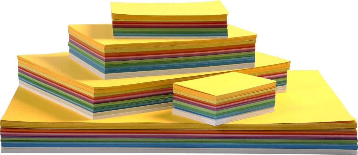 Colortime Forårskarton, A2-A6, 180g, 1800 ark, ass