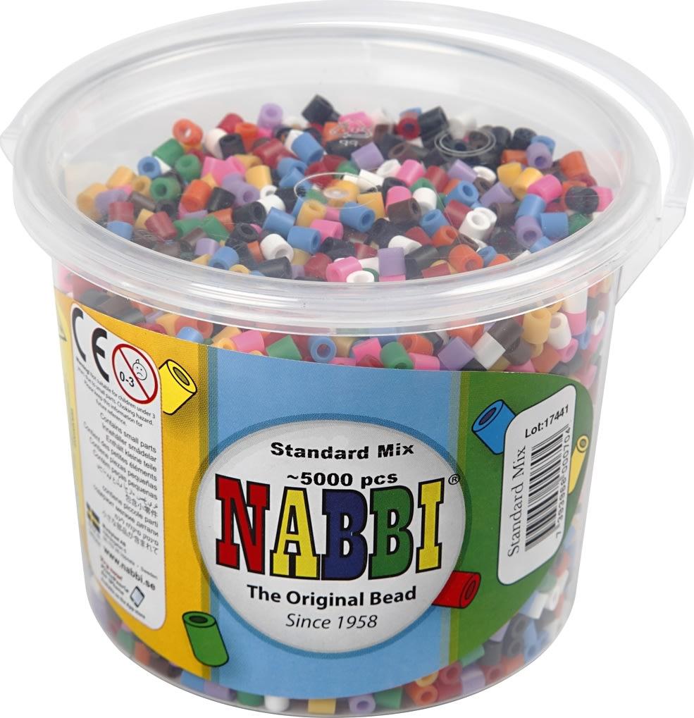 Nabbi Rørperler, 5000 stk, standardfarver