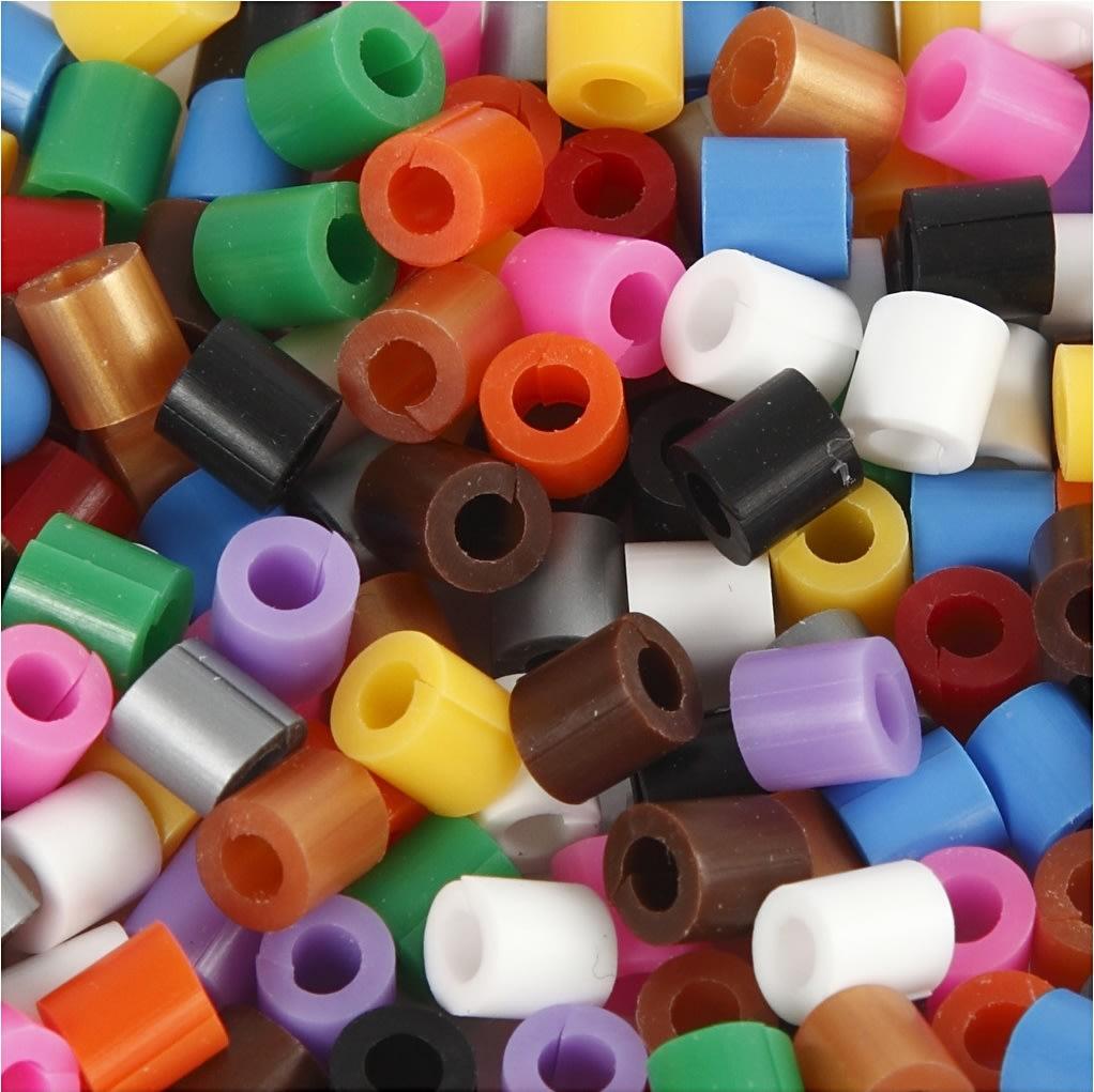 Nabbi Rørperler m/split, 1100 stk, standardfarver