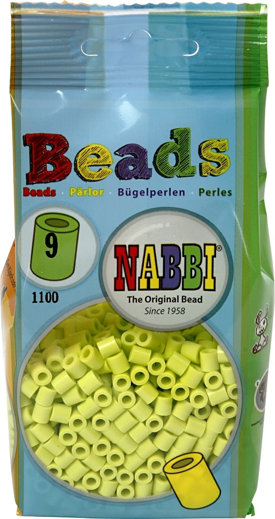 Nabbi Rørperler, 1100 stk, lime (9)
