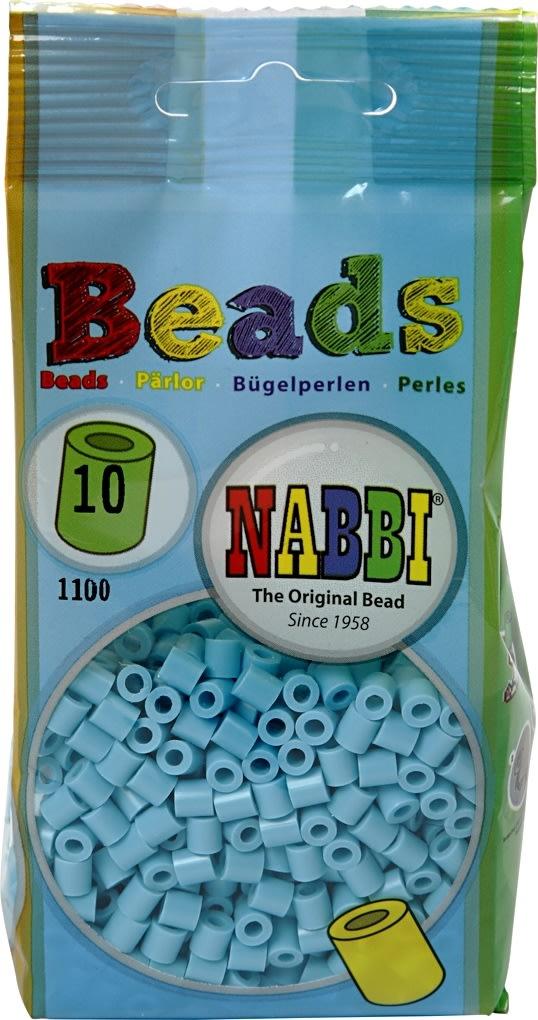 Nabbi Rørperler, 1100 stk, turkis (10)