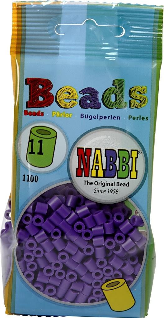 Nabbi Rørperler, 1100 stk, mørk lilla (11)
