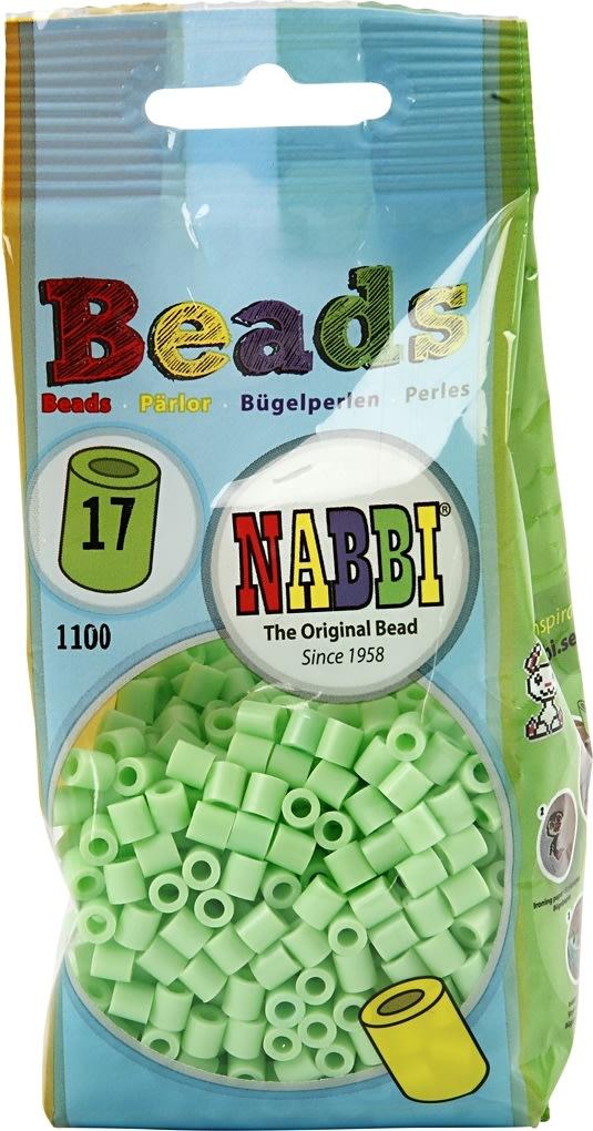 Nabbi Rørperler, 1100 stk, grøn pastel (17)