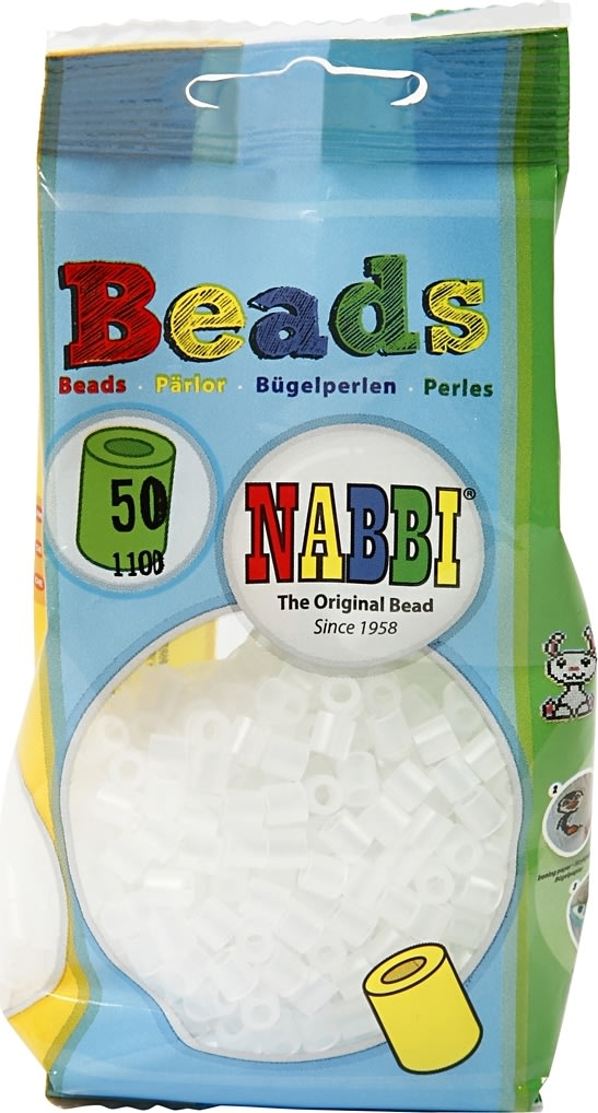 Nabbi Rørperler, 1100 stk, klar tranparent (50)