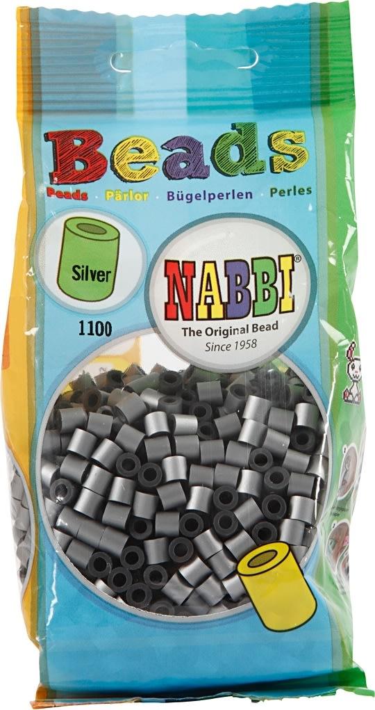 Nabbi Rørperler, 1100 stk, sølv