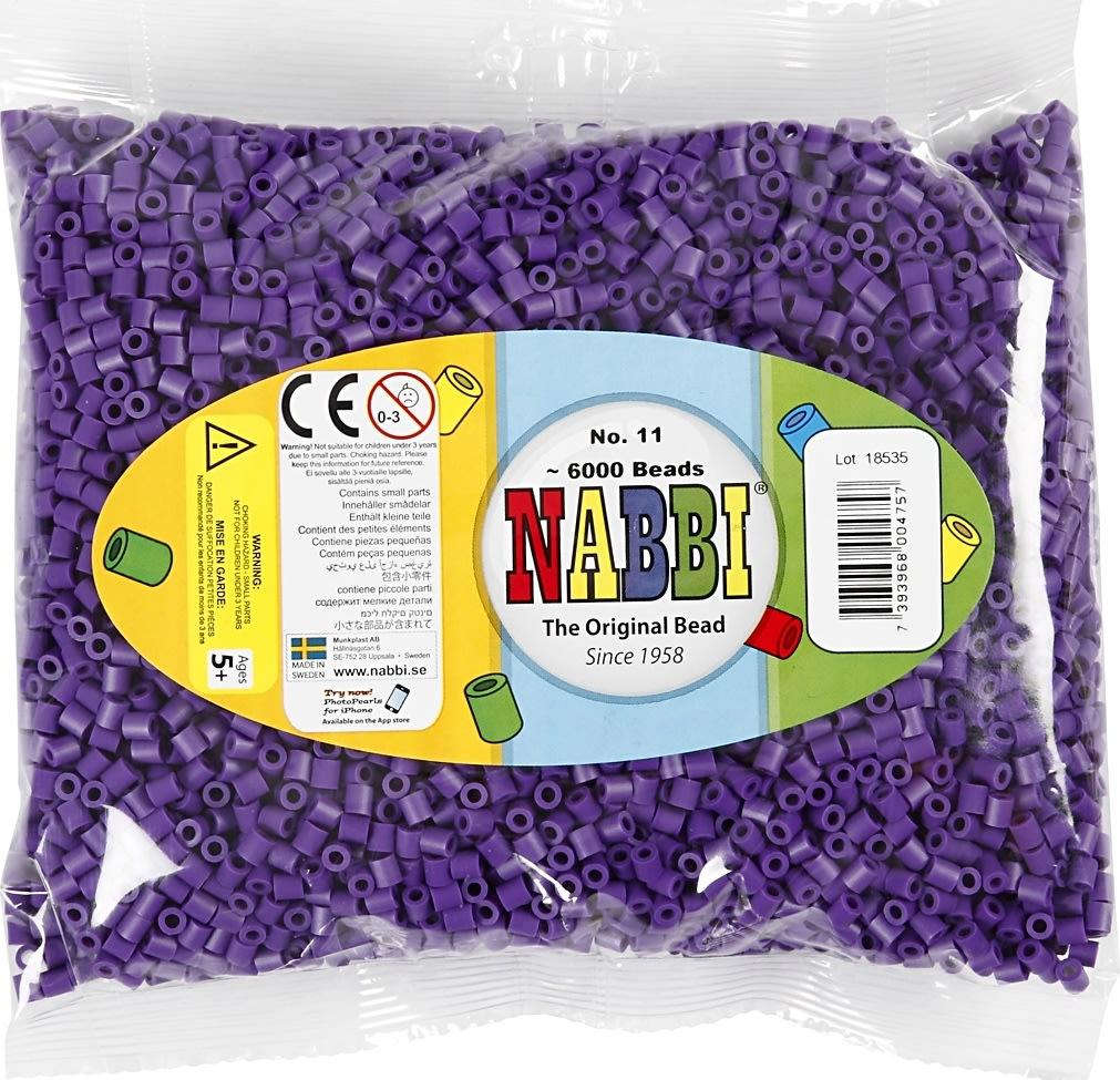 Nabbi Rørperler, 6000 stk, mørk lilla (11)
