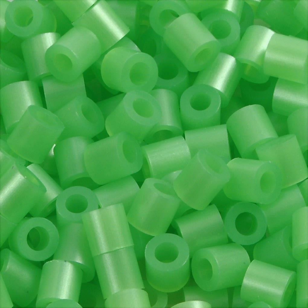 Nabbi Rørperler, 6000 stk, grøn perlemor (22)