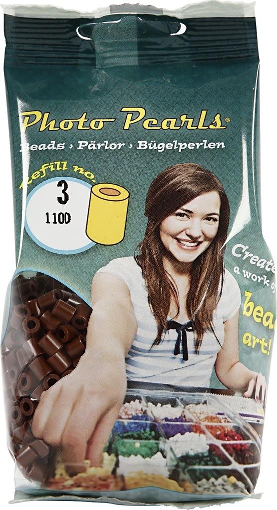 Photo Pearls Rørperler, 1100 stk, brun (3)