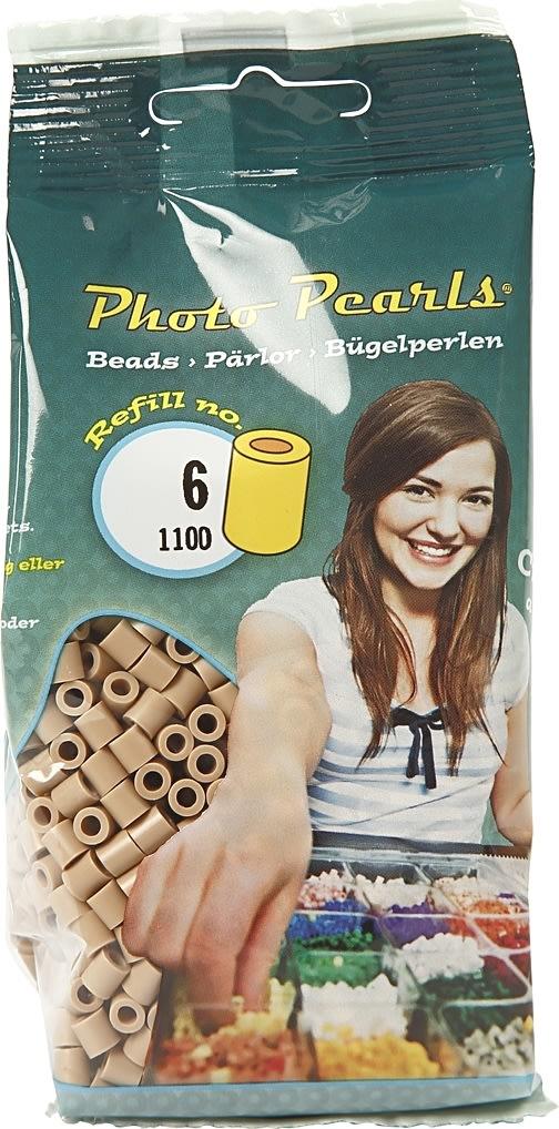 Photo Pearls Rørperler, 1100 stk, beige (6)