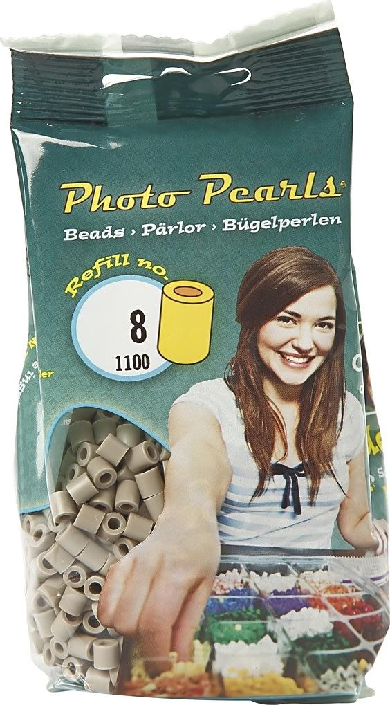 Photo Pearls Rørperler, 1100 stk, askegrå (8)