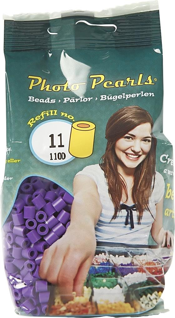 Photo Pearls Rørperler, 1100 stk, mørk lilla (11)