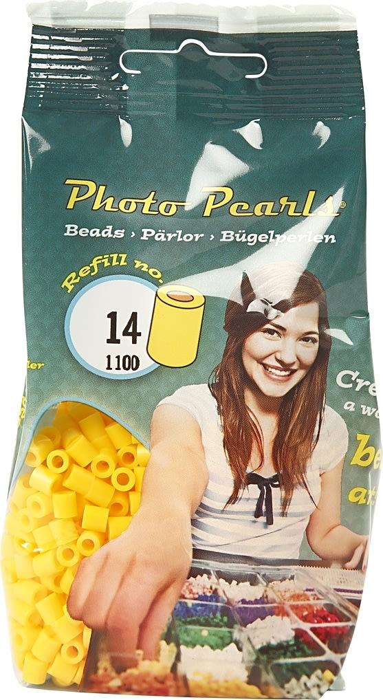 Photo Pearls Rørperler, 1100 stk, gul (14)
