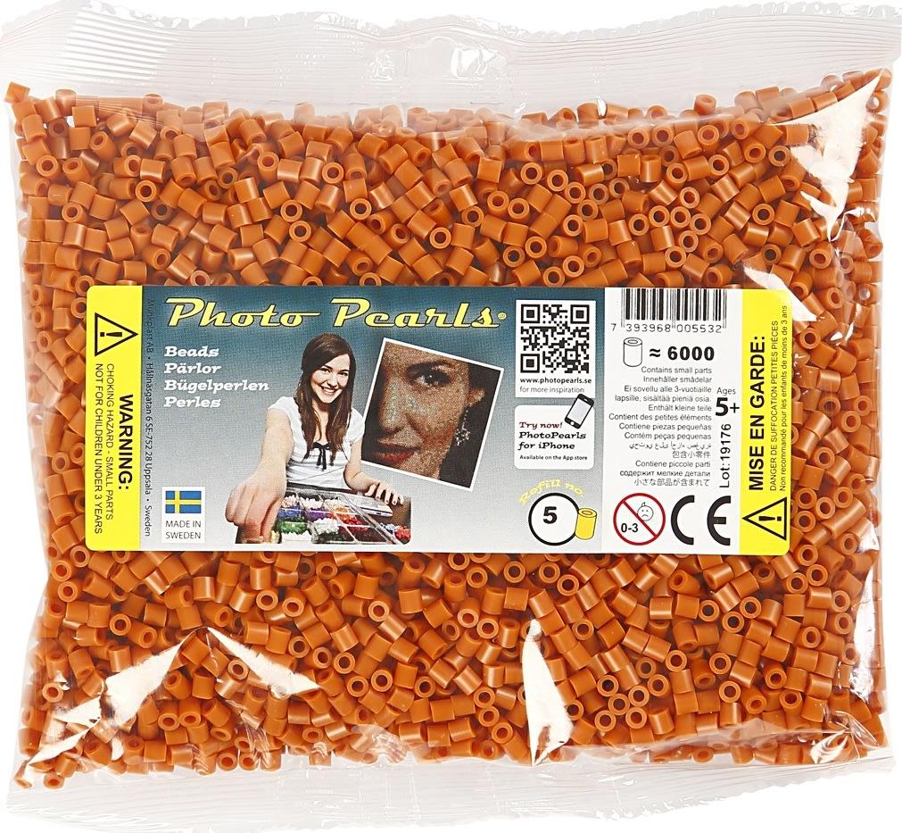 Photo Pearls Rørperler, 6000 stk, rødbrun (5)