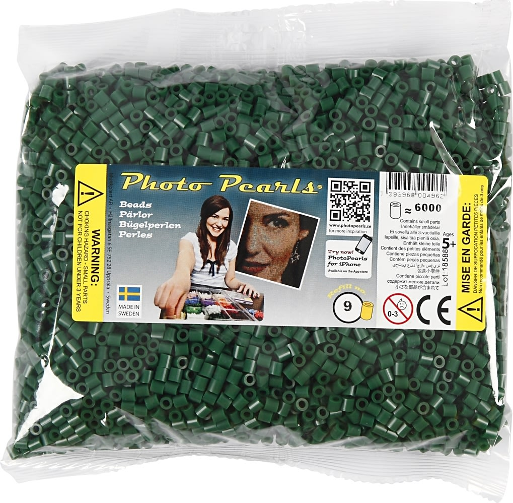 Photo Pearls Rørperler, 6000 stk, mørk grøn (9)
