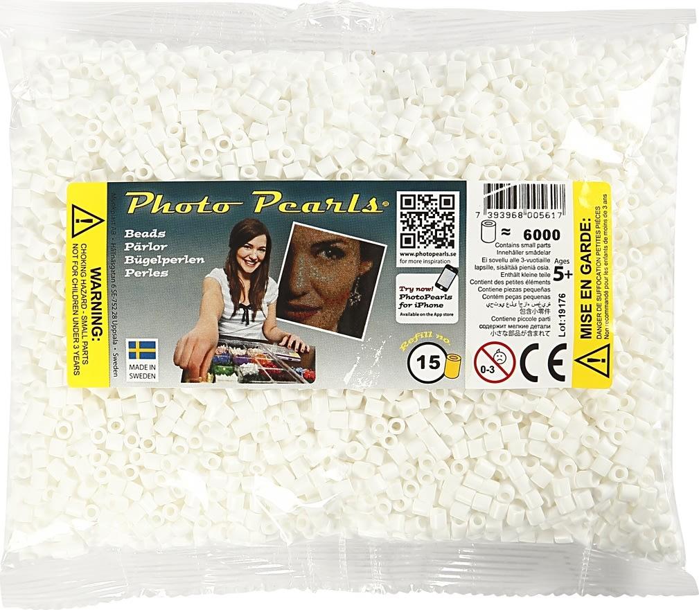 Photo Pearls Rørperler, 6000 stk, hvid (15)