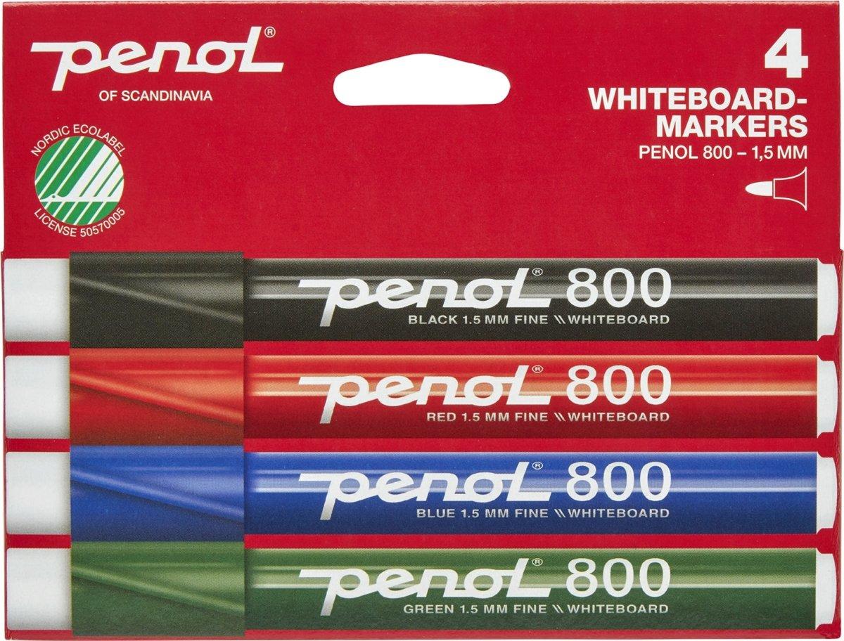 Penol 800 Whiteboardmarker sæt m. 4 stk.