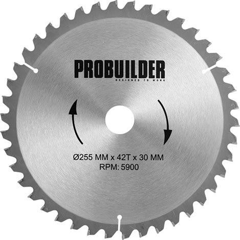 Probuilder klinge, Ø255x30x1,8 mm, t42