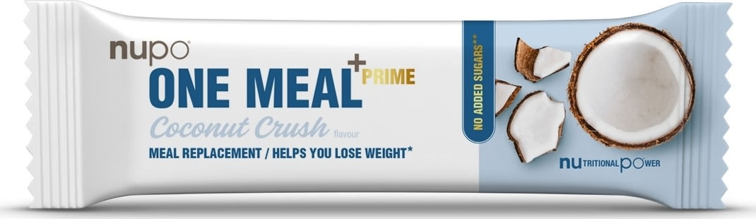 Nupo One Meal +Prime Bar Coconut Chrush, 64 g
