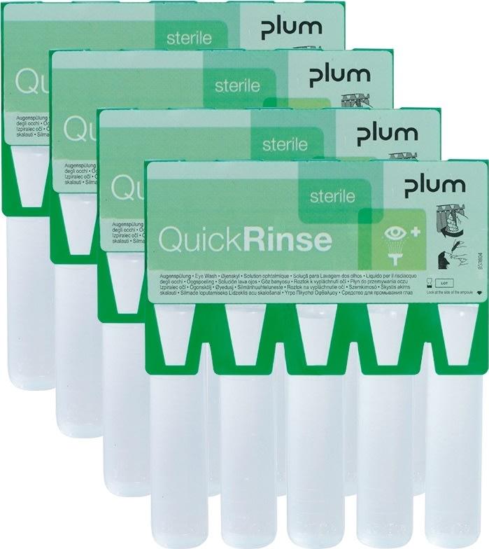 Plum Quick Rinse mini øjenskyl 20 ml. - 20 stk