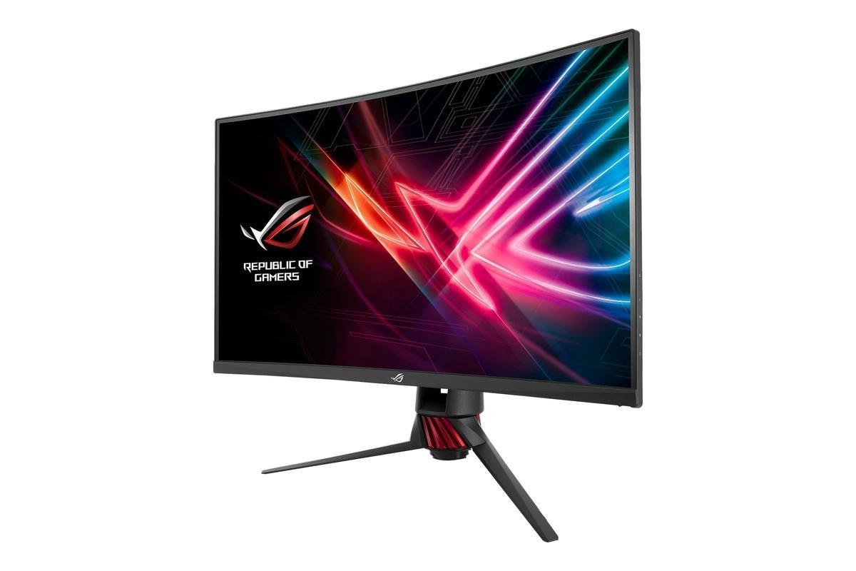 "ASUS Rog Strix XG32VQR 31,5"" LED-skærm, grå"