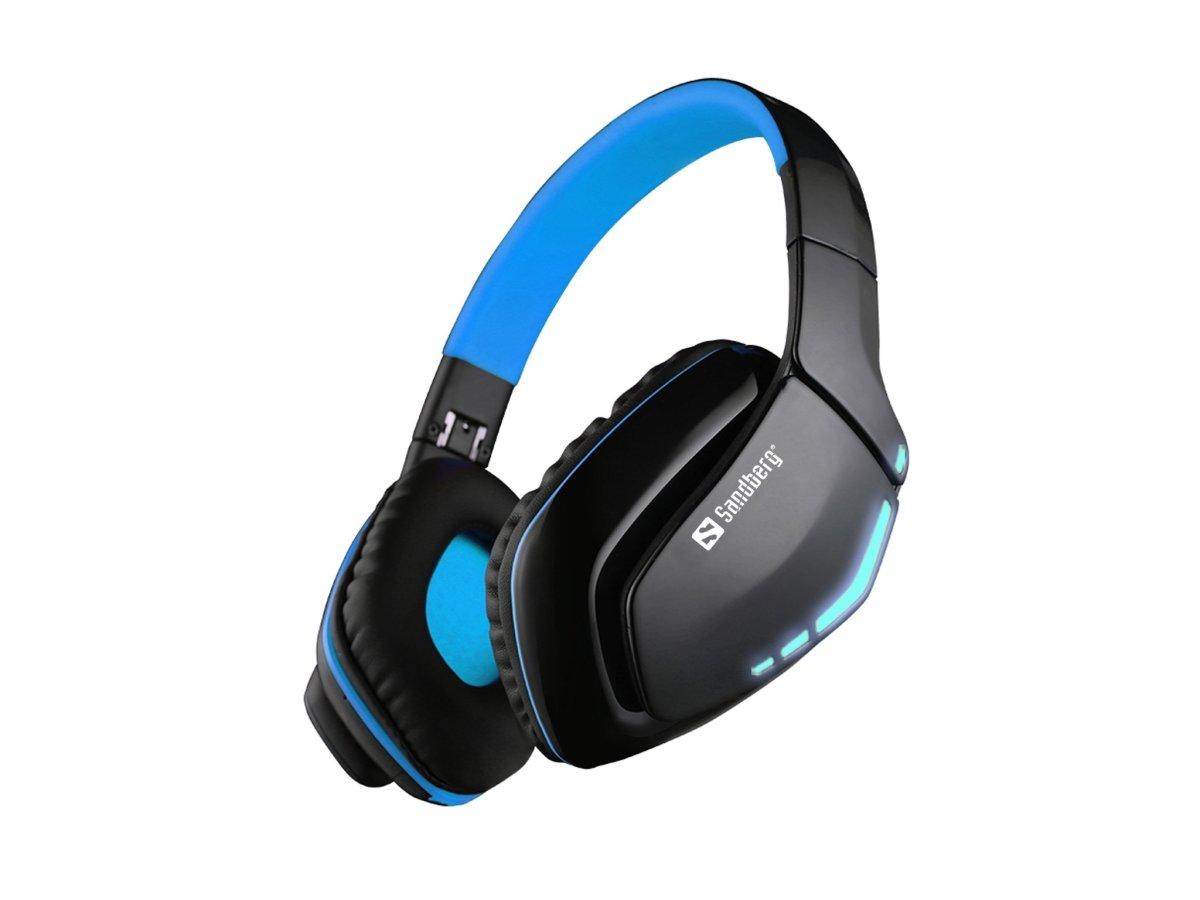 Sandberg Blue Storm trådløst headset, sort/blå