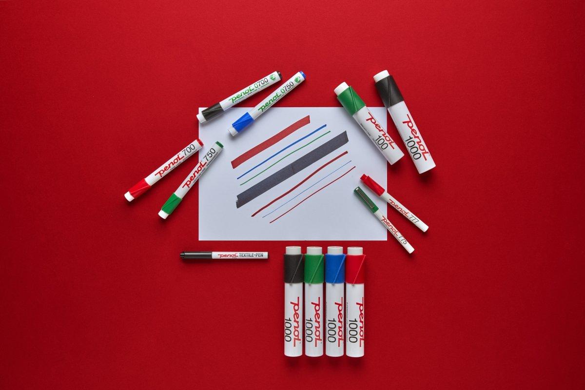 Penol 0700 Permanent Marker   4 farver