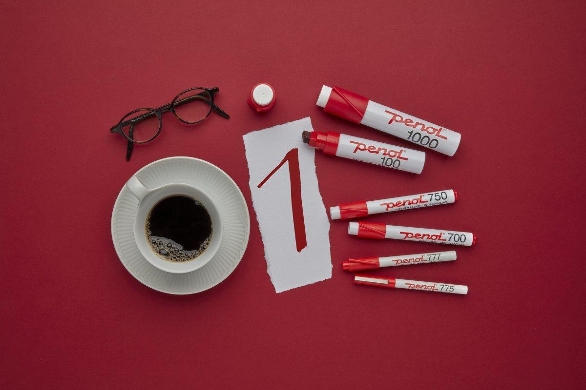 Penol 750 Permanent Marker   Rød