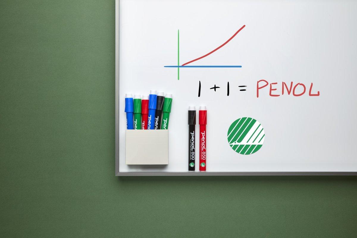 Penol 800 Whiteboard Marker | 4 farver