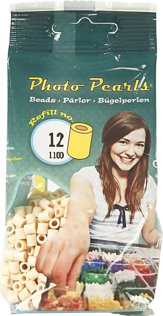 Photo Pearls Rørperler, 1100 stk, lys beige (12)