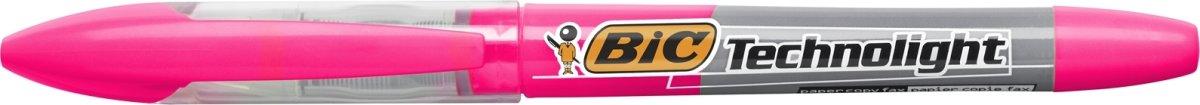 Bic Technolight highlighter, pink