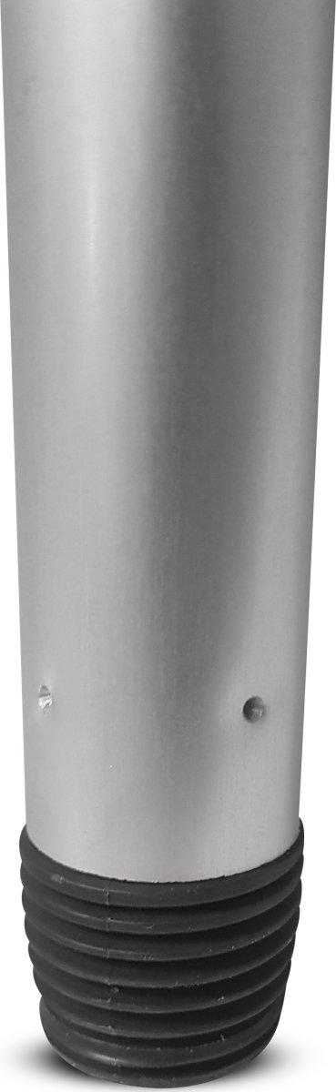 Aluminiumsskaft med gevind, 140 cm