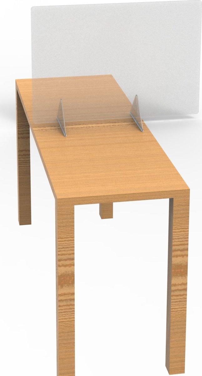 Skrivebords hygiejneskrærm 60,5 x 80,5 cm