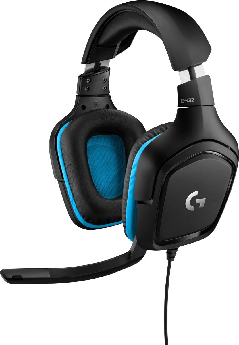 Logitech G432 gaming headset, sort