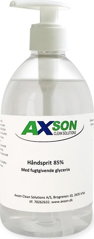 Axson Håndsprit flydende 85% hånddesinfek. 500 ml