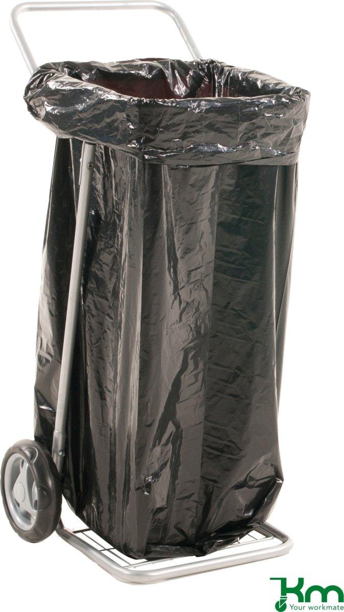 Affaldsvogn uden låg, 580x940, massive gummihjul
