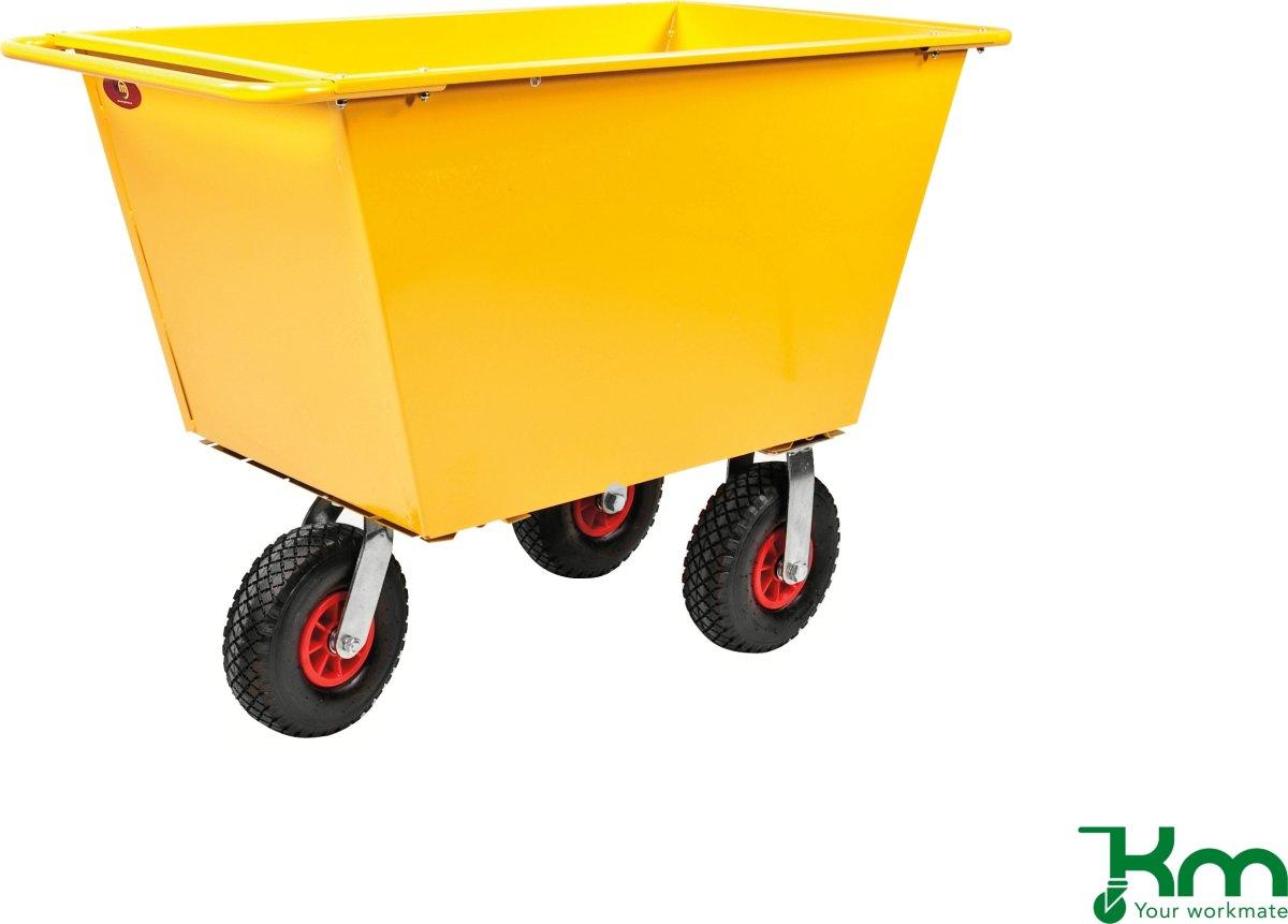 Fodervogn 400 liter, Luftgummihjul