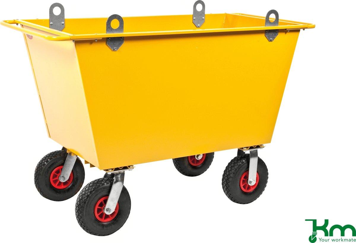 Fodervogn m. løftekroge, 200 liter,Luftgummihjul