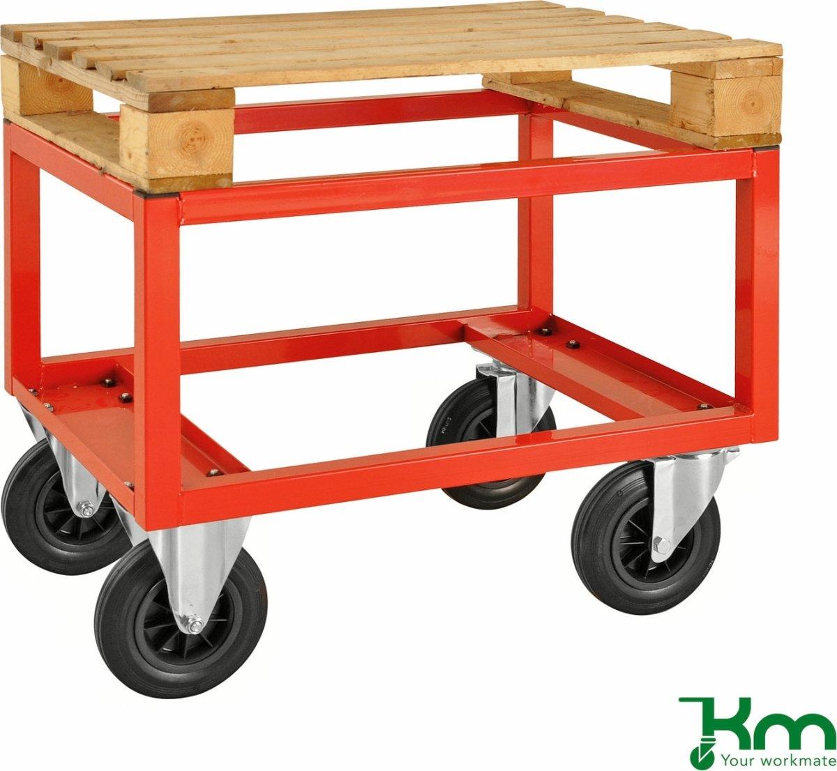 Palletransportvogn Høj, Halvpalle, Rød