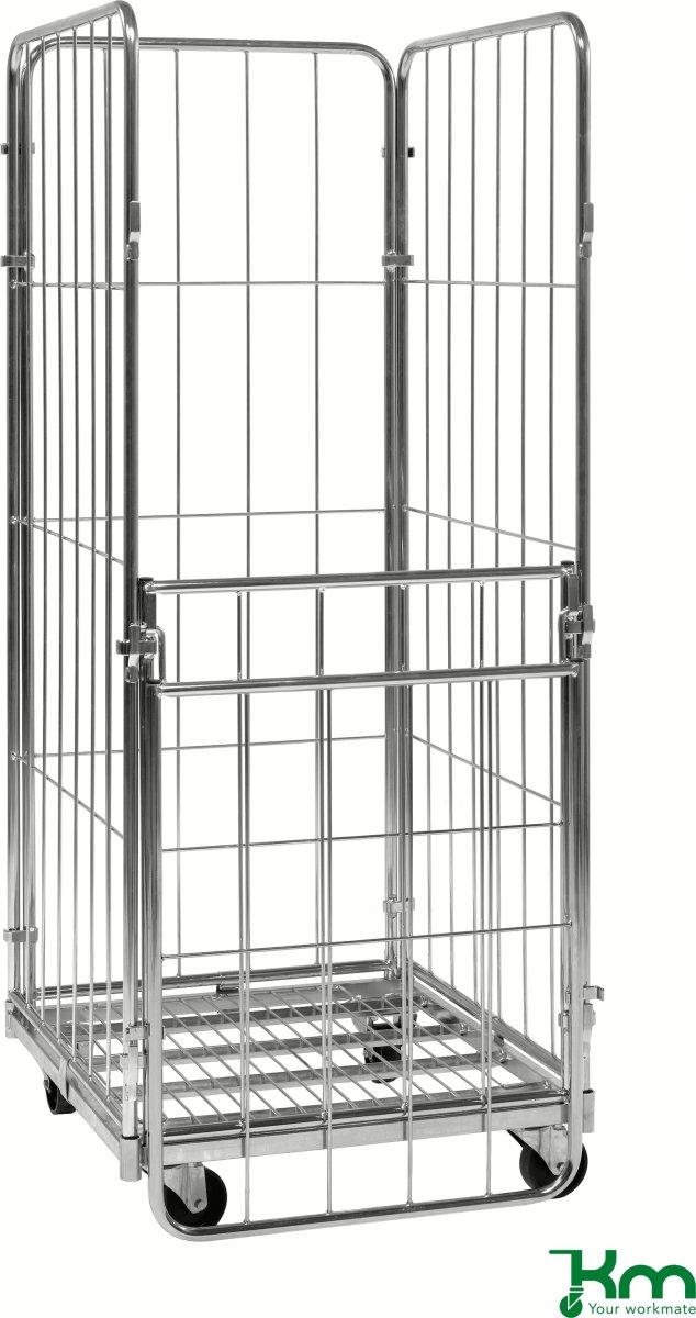 4 sidet rullecontainer m. foldbar side,72x80x180
